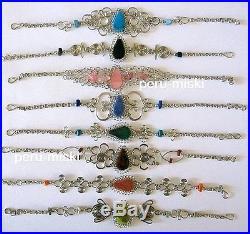 100 Semiprecious Stones Bracelets Wholesale, Peruvian Jewelry