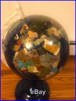 13 Globe of Lapis Lazuli and Semiprecious Stones Gorgeous! Paid $300