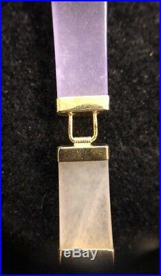 14K Yellow Gold & Semi Precious Stone Bracelet 8.5 Inch 11.2 Grams