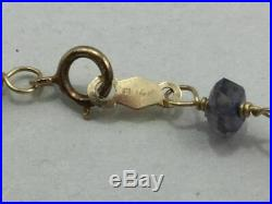 14k gold and semi precious stone cross necklace