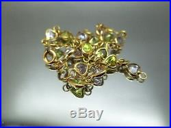 18 K Gold, Multi-color Semiprecious Stones 7.3/4 long Bracelet 4.7 grams