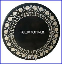 36 Marble Dining Center Table Mother of Pearl Semi Precious Stone Inlay Decor