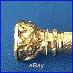 Antique Gold Propelling Pencil and Fountain Pen Semi Precious Stone