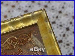 Antiques icon image, monastic work, semi-precious stones, holy gertrude, 18 Cen