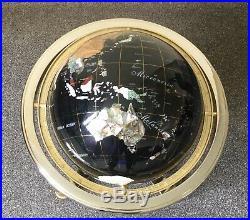 Black Large Semi Precious Stone Globe Quite Rare Colour