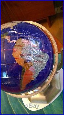 Blue Lapis Gemstone Globe with Semi-precious Stones