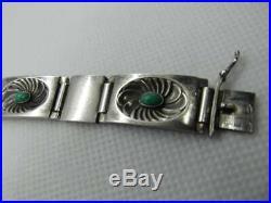 C1955 Georg Jensen by Henry Pilstrup Silver Bracelet with Semi-Precious Stone Ca