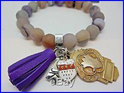 CLASSY! FUN! JONES KATAMI Handmade Unise Semi-Precious Natural Stones Bracelet