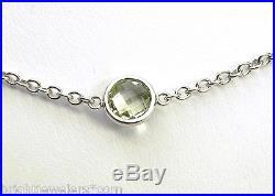 Classy Ladies 14k White Gold 7 Semi-Precious Stones Necklace