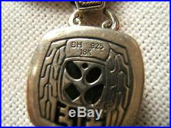 Effy Sterling & 18k Gold Pendant Semi-precious Gem Stones Toggle Chain Also Effy