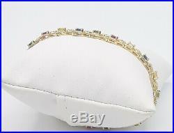Estate 14kt Bracelets Yellow Gold Semi Precious Stone