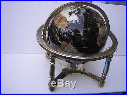 Gem Stone Globe 30 different minerals and semi precious stones 13 inc globe