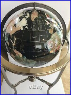 Globe of Semi-Precious Stone. Large with Floor Stand 35 Tall. 30 Lbs. Gorgeous