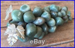 Green Stone Grape Cluster Aventurine Semi-Precious Vintage Decor Grapes Vine