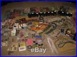 HUGE Jewelry Making Supplies Lot Glass Beads Stones Semi-Precious Gemstones SS