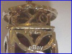 Heavy Rare Zem 9ct Gold Semi Precious Stone Stop Go Charm Weight 8.3 Grams