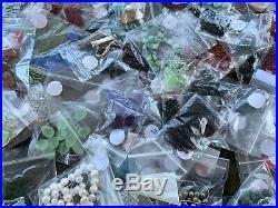 Huge 3lb Lot of misc Semi Precious Stone bead swarovski Jewelry Making Supplies