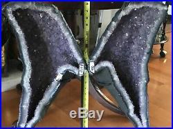 Huge Amethyst Geode Butterfly Wings semiprecious Stones
