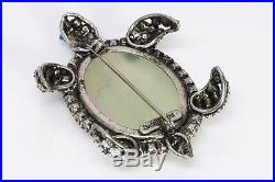 IRADJ MOINI Semiprecious Stone Turtle Brooch