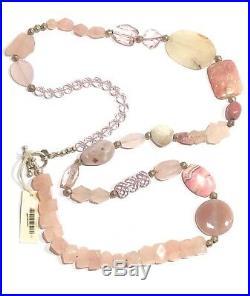 Jenny Lauren Sterling Silver Semi Precious Bead Studio Artisan Necklace 354 Gram