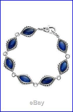 Lagos'Contessa' Semiprecious Lapis Stone Caviar Link Bracelet