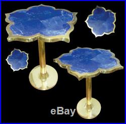 Lapis Lazuli Semi Precious Stone hand made coffee corner table brand new