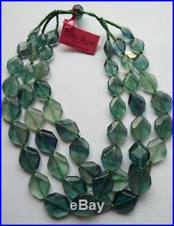 Lola Rose Raya Semi Precious 50cm Necklace Emerald Green Fluorite NEW & POUCH