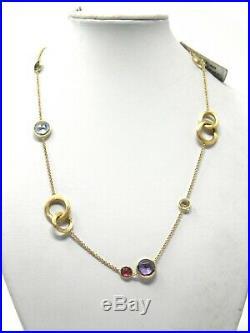 Marco Bicego 16.5Jaipur Semi-Precious Multi-Stone 18K Gold Circles Necklace NWT