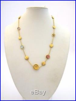 Marco Bicego 16 Jaipur Semi-Precious Multi-Stone & 18K Yellow Gold Necklace NWT