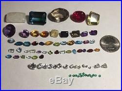 Mixed Gems Lot, Faceted Cut Semi Precious Stone Loose Gemstones 82 Stones