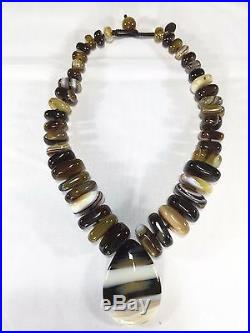 NEW Genuine Semi-Precious Gemstone Statement Necklace