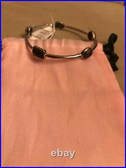 NWT $895 Ippolita Rock Candy Sterling Silver Bezel Set Semi-Precious Stone