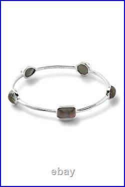 NWT $895 Ippolita Rock Candy Sterling Silver Bezel Set Semi-Precious Stone Stati