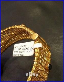 NWT Vermeil 24K Gold On Silver Bangle Semiprecious Stones 46.5 Grams MSRP $255