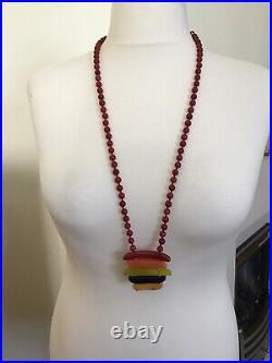 Prue x Lola Rose Flossie Semi Precious Necklace Carmine Quartzite