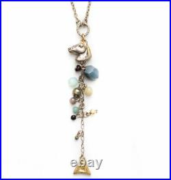 Rare Jacey Withers Silver/gold Semi Precious Stones Seahorse Necklace Bnib
