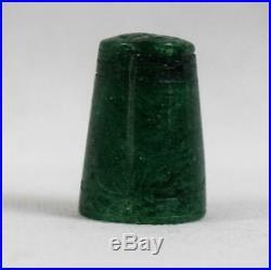 Rare Oriental Vintage Set of 10 JadeSemi Precious Stone Sewing ThimblesChinese