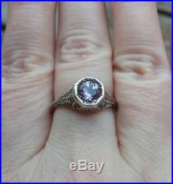 Ring Amethyst. 925 Silver RingFine JewelryPurple Stone Ringsemi-precious stone