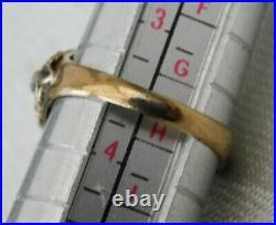 SUPERB VICTORIAN HALLMARKED 14k 14CT GOLD SEMI PRECIOUS STONE RING SIZE G1/2