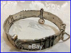 Sterling Silver 925 Handmade Semi-Precious Stones Baruch K. Bracelet 33g 1.25oz