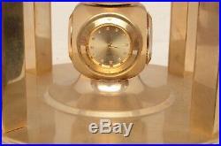 Vtg Pearl & Stone Rotating World Globe Clock semi Precious Gem Brass art deco L