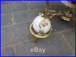 World Globe with semi precious stones/ mother of pearl (830J)