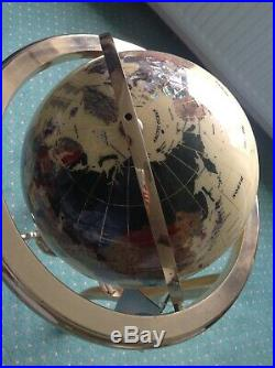 World globe Gemstone Semi Precious Stone Globe Large